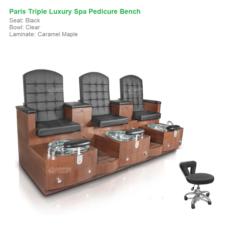 Fabulous Paris Triple Luxury Spa Pedicure Bench With Magnetic Jet Spacious Seating Creativecarmelina Interior Chair Design Creativecarmelinacom