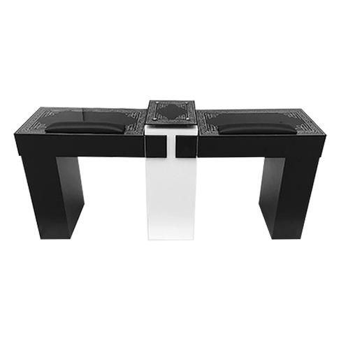 T15P BK Double Nail Table » NailDepot.us Salon Spa Nail Furniture ...